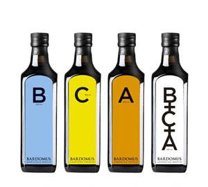 Bardomus: pack multivariedad con con un aceite de oliva arbequina, otro borriolenca y otro canetera, más tres botellas de coupage