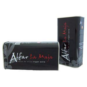 Alfar La Maja. Aceite de oliva arbequina, Caja de 6 latas de 1 L