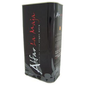 Alfar La Maja. Aceite de oliva arbequina, Caja de 3 latas de 5 L