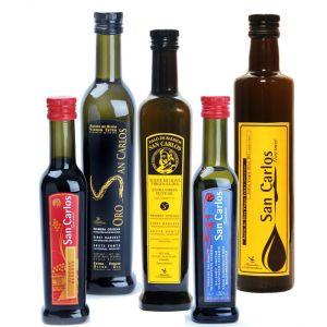 Pago Baldíos San Carlos, Aceite de oliva y vinagre. Pack Gourmet 1, de 12 botellas.