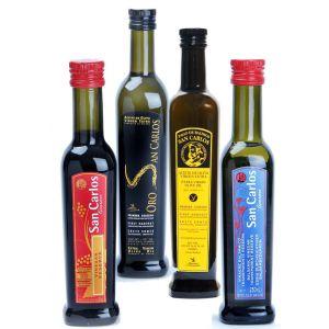 Pago Baldíos San Carlos, Aceite de oliva y vinagre. Pack Gourmet 2, de 12 botellas de 250 ml