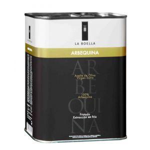 La Boella. Aceite de oliva arbequina, Caja de 6 latas de 2L